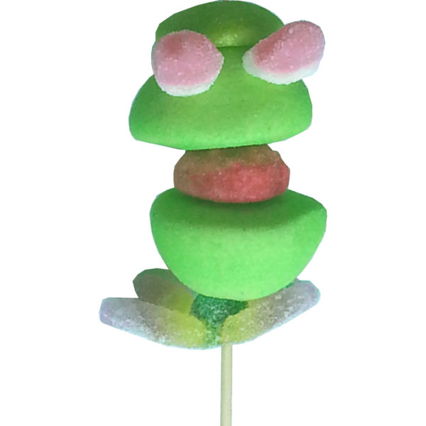 Brochette de bonbons grenouille