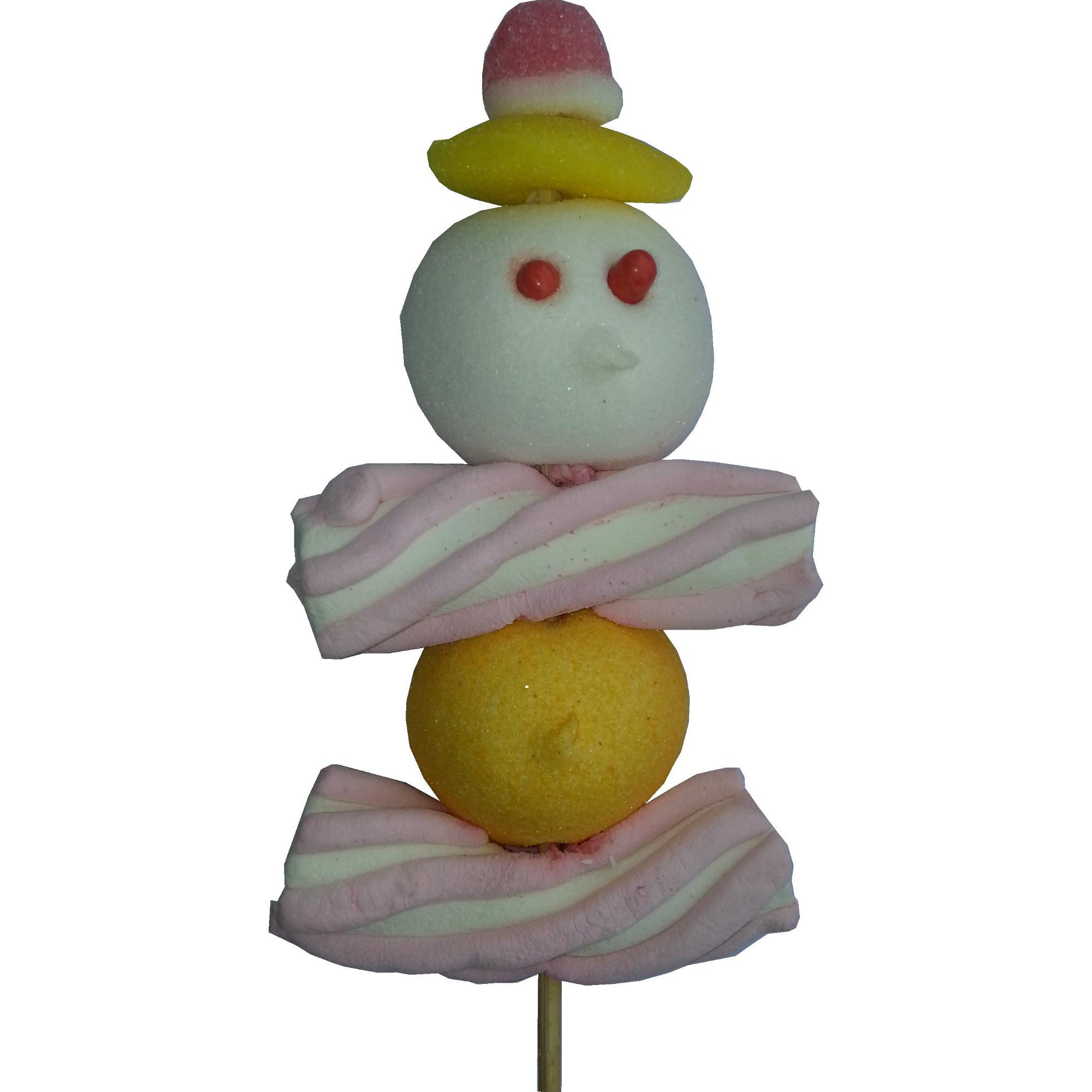 Brochette de bonbons pantin