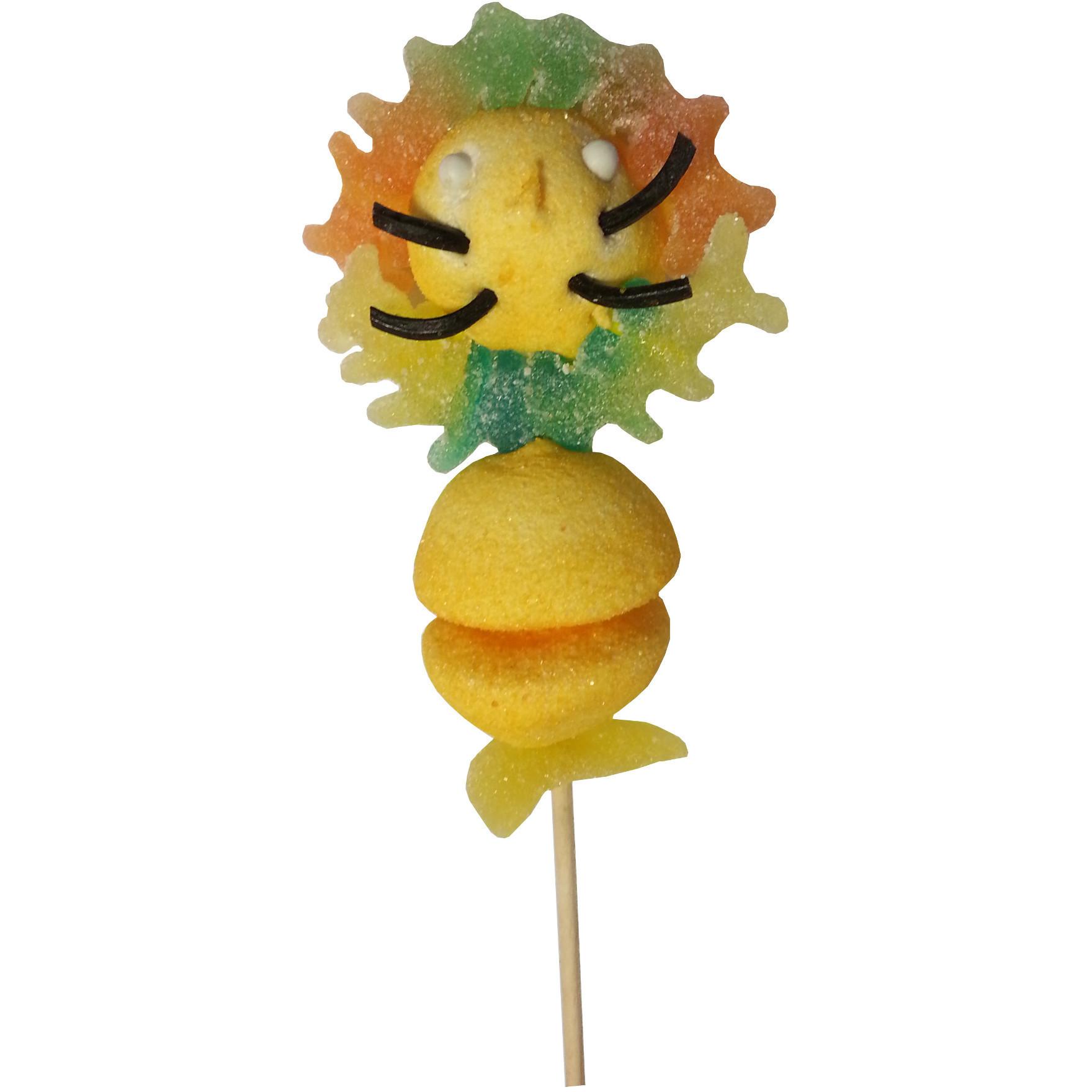 Brochette de bonbons lion