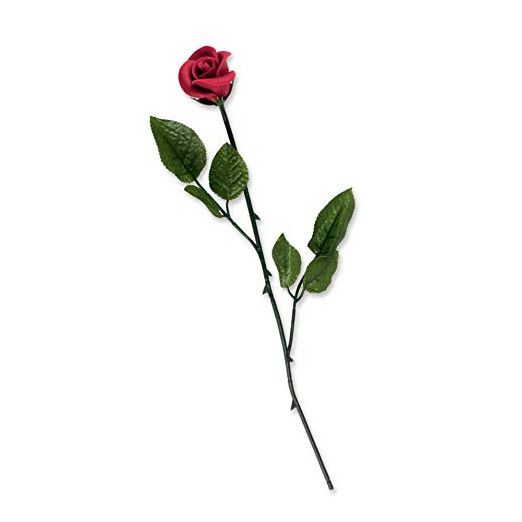 Rose rouge en pâte d'amande 1