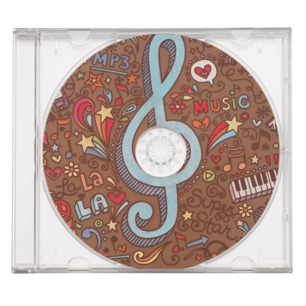 Lot de 2 CD en chocolat thème musique
