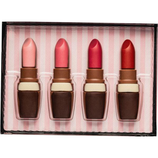 65422 coffret 4 rouges à lèvre en chocolat