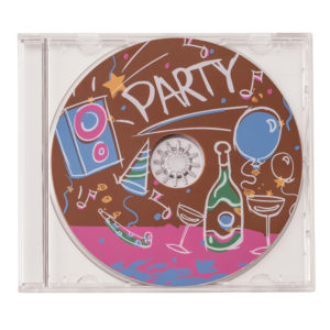 Lot de 2 CD en chocolat thème party