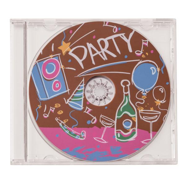 Lot de 2 CD en chocolat thème party