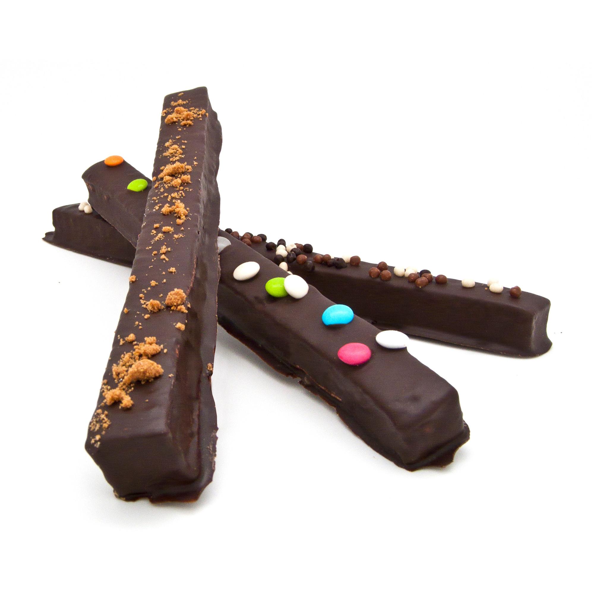 Lanières de guimauve enrobées de chocolat