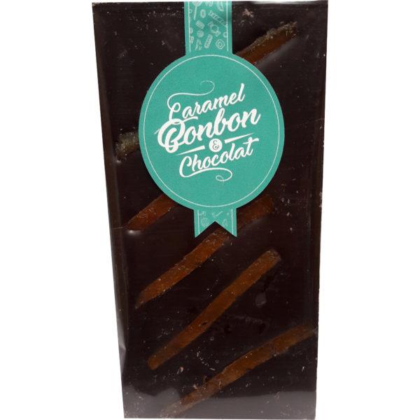 Tablette chocolat noir orange confite