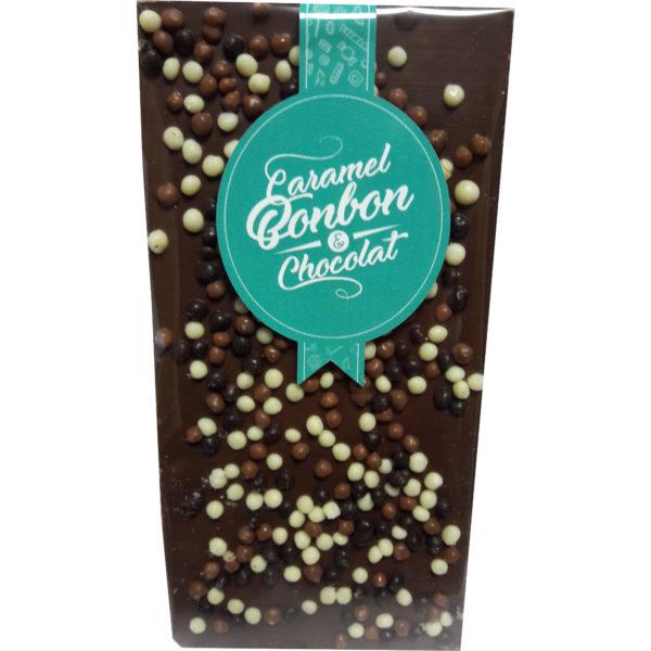 Tablette chocolat lait aux céréales croustillantes