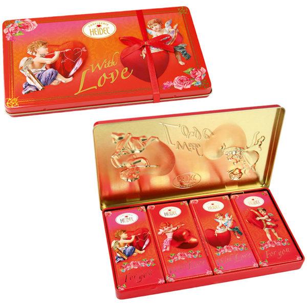 Boîte métal de chocolat love