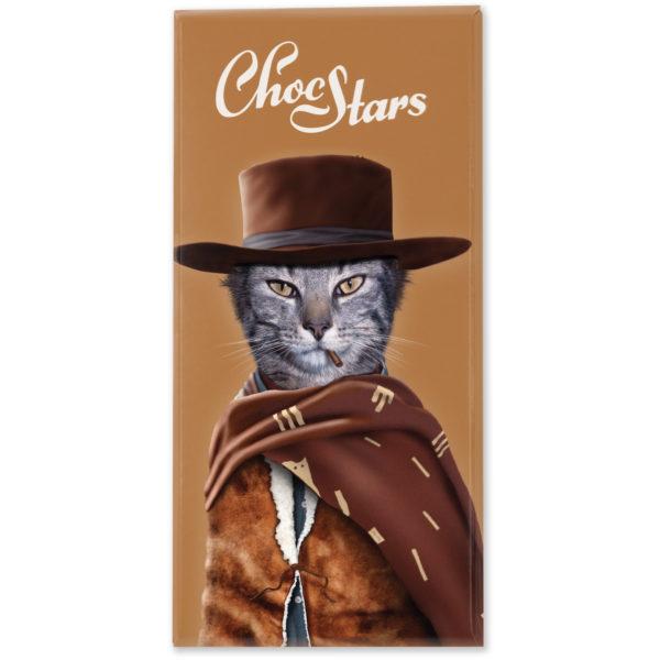 Tablette chocolat noir western