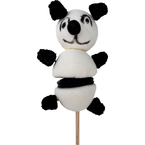 brochette de bonbons panda