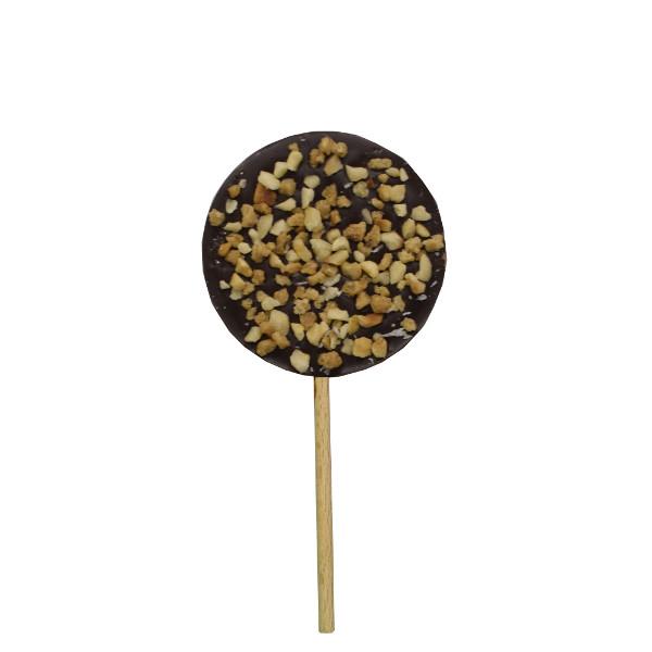 CBC062 SUCETTE RONDE CHOCOLAT NOIR PRALIN