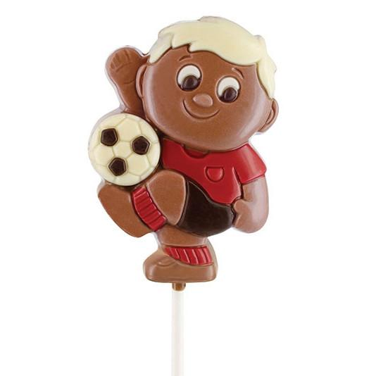 Sucette chocolat footballeur