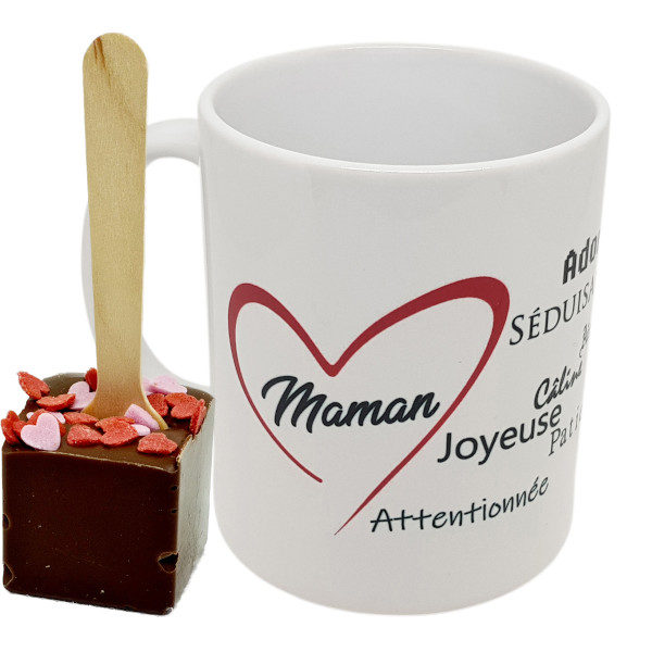 mug004 POUR MAMAN CUILLERE COEUR